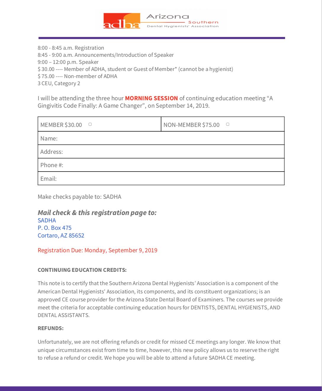 Arizona Dental Hygienists' Association – AzDHA